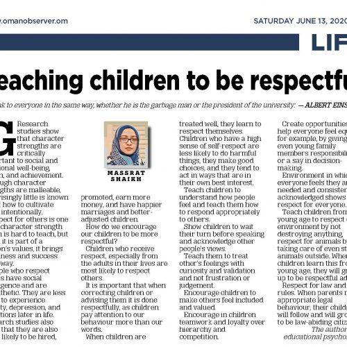 Teaching children to be respectful