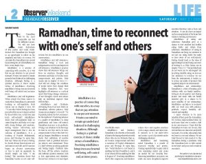 ramadha, time to reconnect with one's self and others