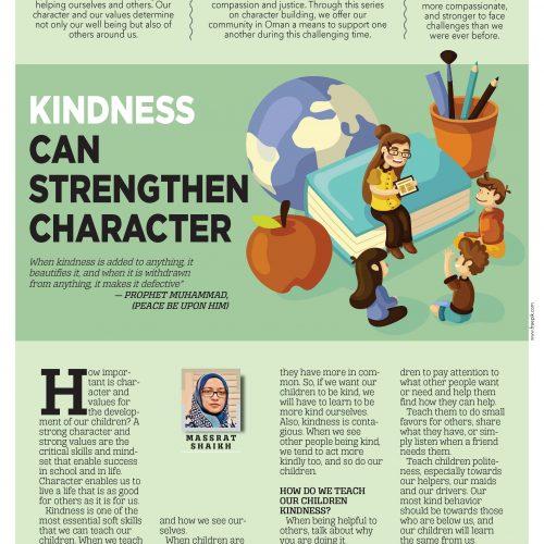 kidness can strenghen character