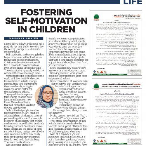 Fostering self-motivation in children